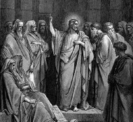 christ in the synagogue - Dore