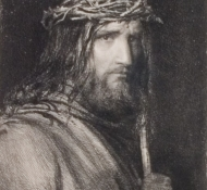 christ with a crown of thorns - Bloch 2
