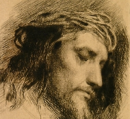 christ with a crown of thorns - Bloch