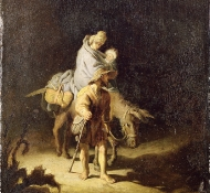 flight into egypt - Rembrandt