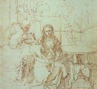 holy family in a trellis - Durer