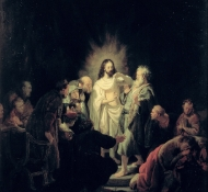 incredulity of st thomas - Rembrandt