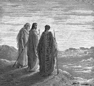 jesus and the disciples going to emmaus - Dore