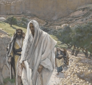 jesus goes in the evening to bethany - Tissot