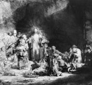 jesus preaching - Rembrandt