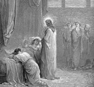 jesus raising up the daughter of jairus - Dore