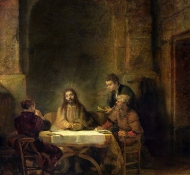 supper at emmaus - Rembrandt