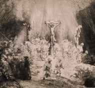 three crosses - Rembrandt