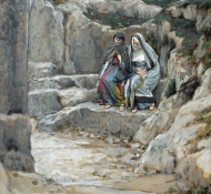 two marys watch the tomb - Tissot