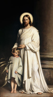 Christ and Child Mormon